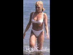 Marta Sanchez wet lingerie bikini see through