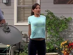 Constance Marie stretching for free cable