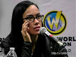 AJ Lee answers questions without gimmick